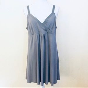 Eileen Fisher Silk v Neck dress sz L